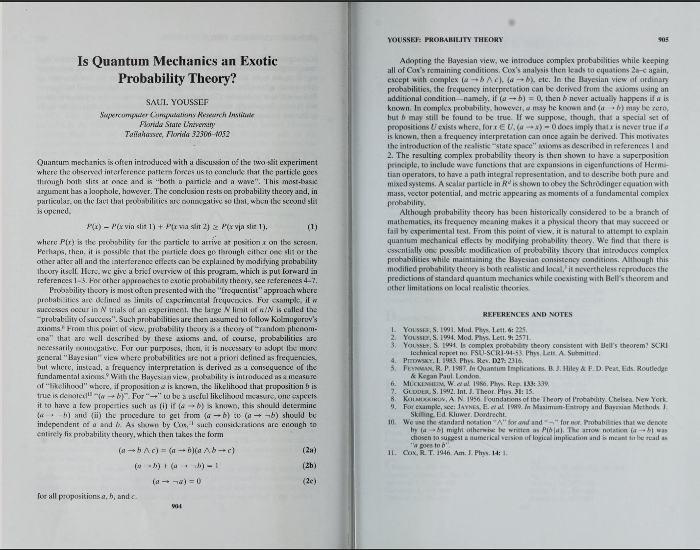 Exotic Probability Theories and Quantum Mechanics References